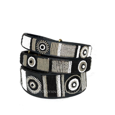 Shades of Grey Beaded Dog Collar - Two Hearts Equine Boutique