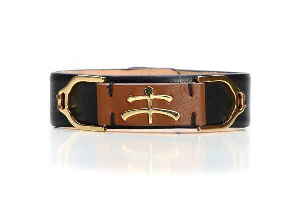 Wave Leather Bracelet - Two Hearts Equine Boutique