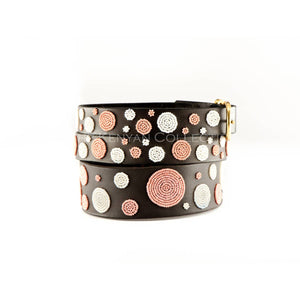 Dots Pink Beaded Dog Collar - Two Hearts Equine Boutique