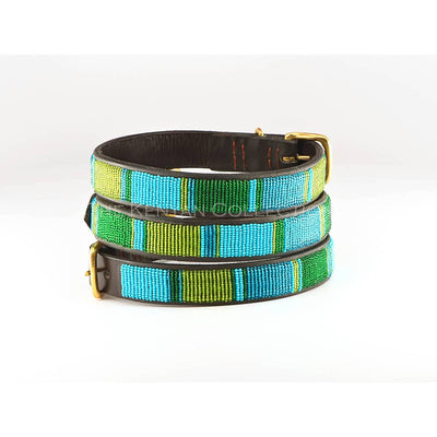 Lagoon Beaded Dog Collar - Two Hearts Equine Boutique
