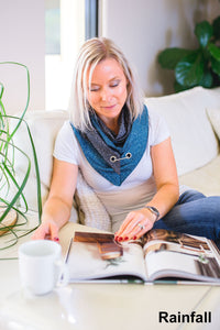Ethically and sustainably handmade in South Australia from 100% cotton or rayon, very unique and funky designed scarf. This fashionable accessory can freshen up nearly any outfit and change it into very stylish and modern one. Janicka (Janicka.com.au). Rainfall