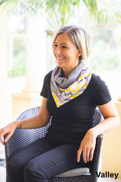 Ethically and sustainably handmade in South Australia from 100% cotton or rayon, very unique and funky designed scarf. This fashionable accessory can freshen up nearly any outfit and change it into very stylish and modern one. Janicka (Janicka.com.au). Valley