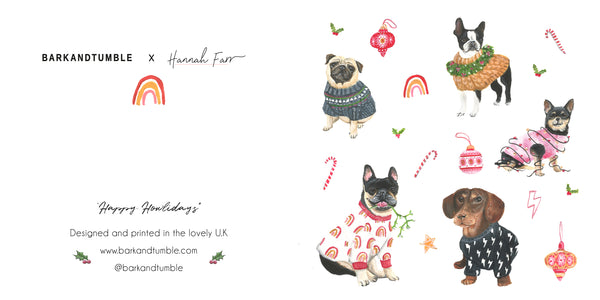 Hannah Farrs Christmas card collaboration.