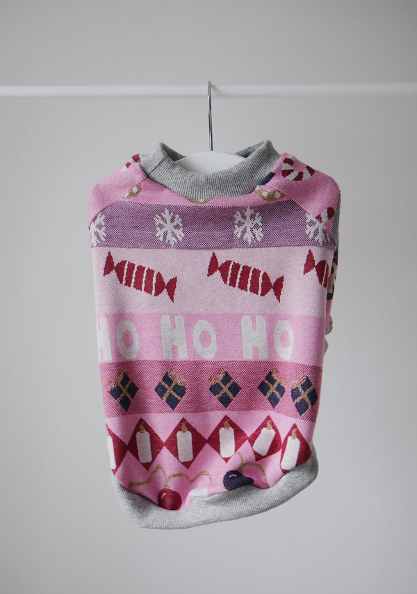 CHRISTMAS PINK SWEATSHIRT
