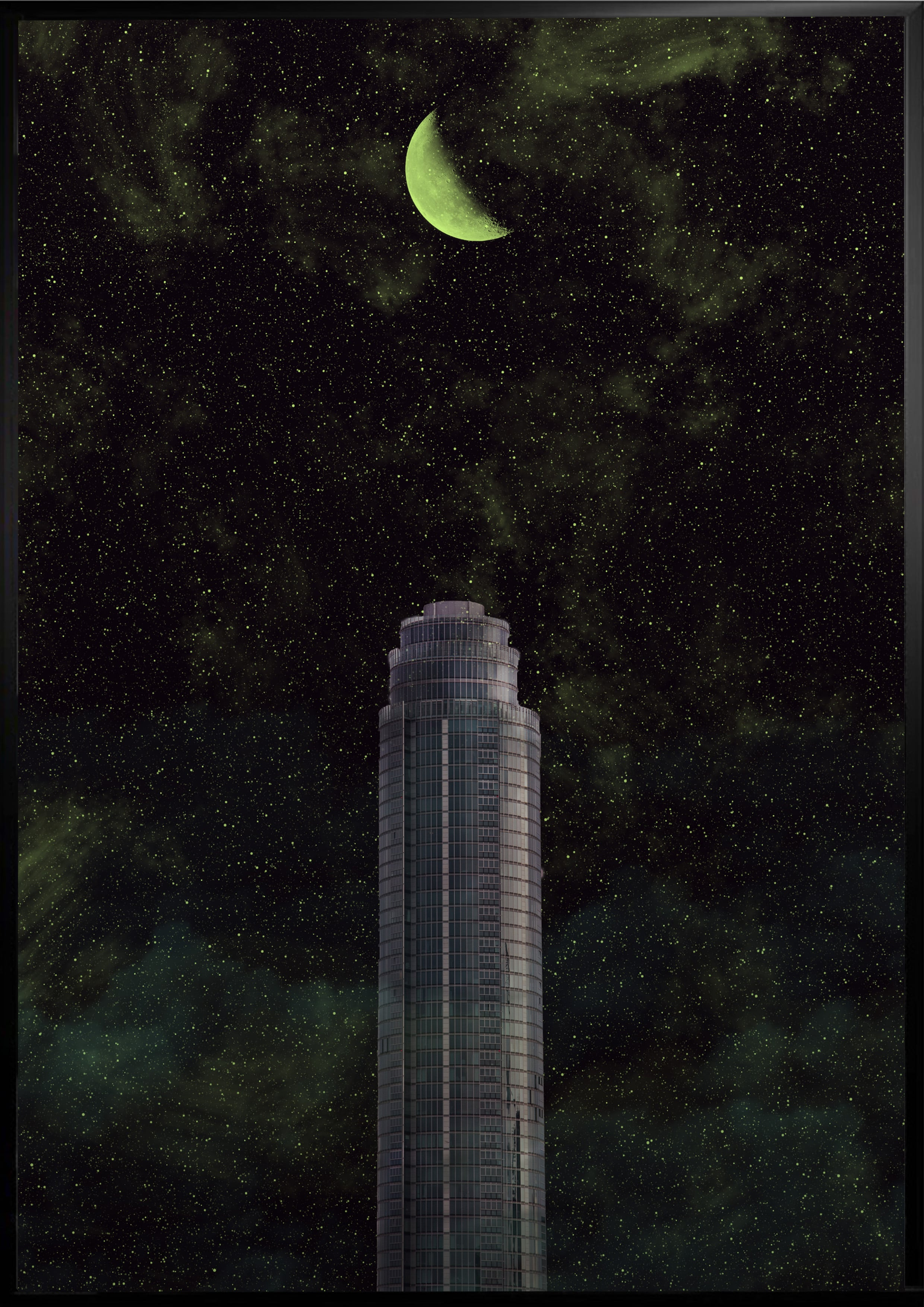 Space tower poster