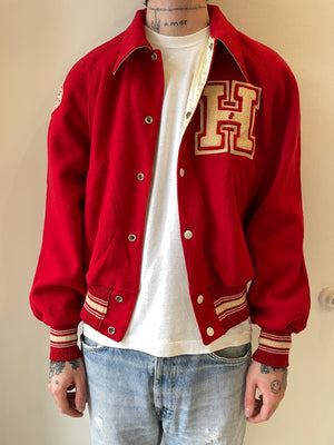 1950's Reversible Wool/Satin Varsity Jacket (M/L)