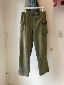 1940's/50's WWII HBT Cargo Trousers (34 x 32)