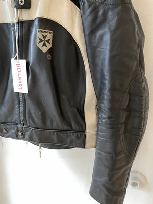 1980's Moto Leather Biker Jacket (S/M)