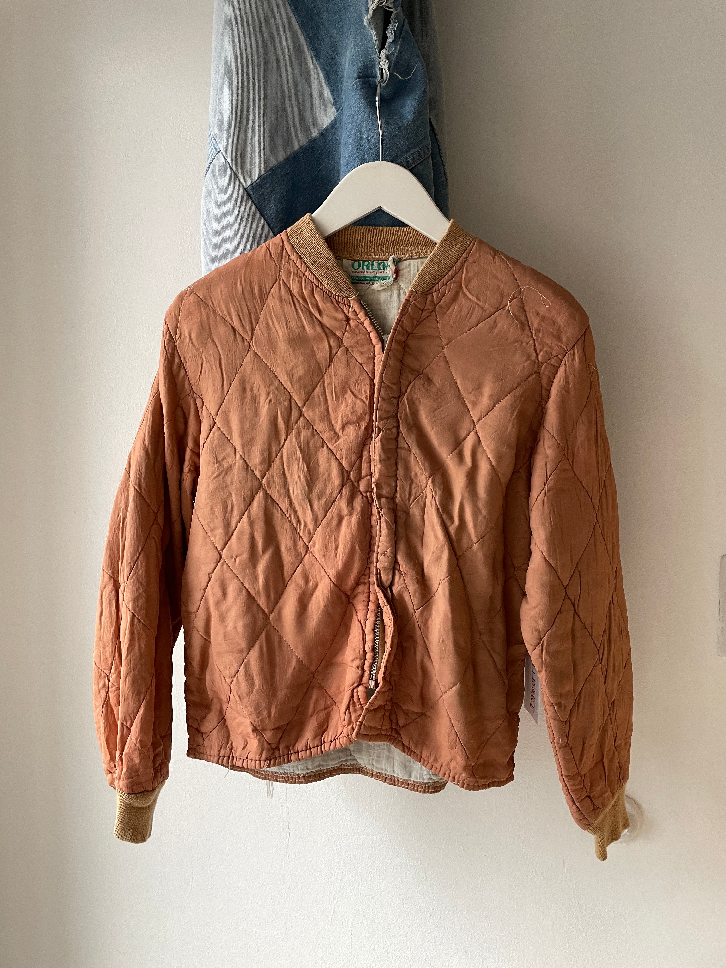 1960's Orlon Quilted Bomber Jacket (S)