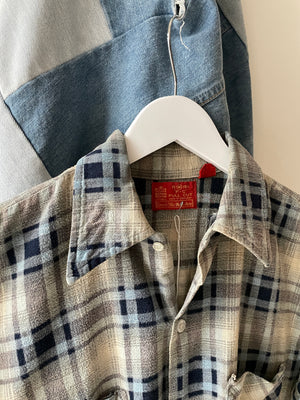 1970's Sears Flat Hem Repaired Flannel (M)
