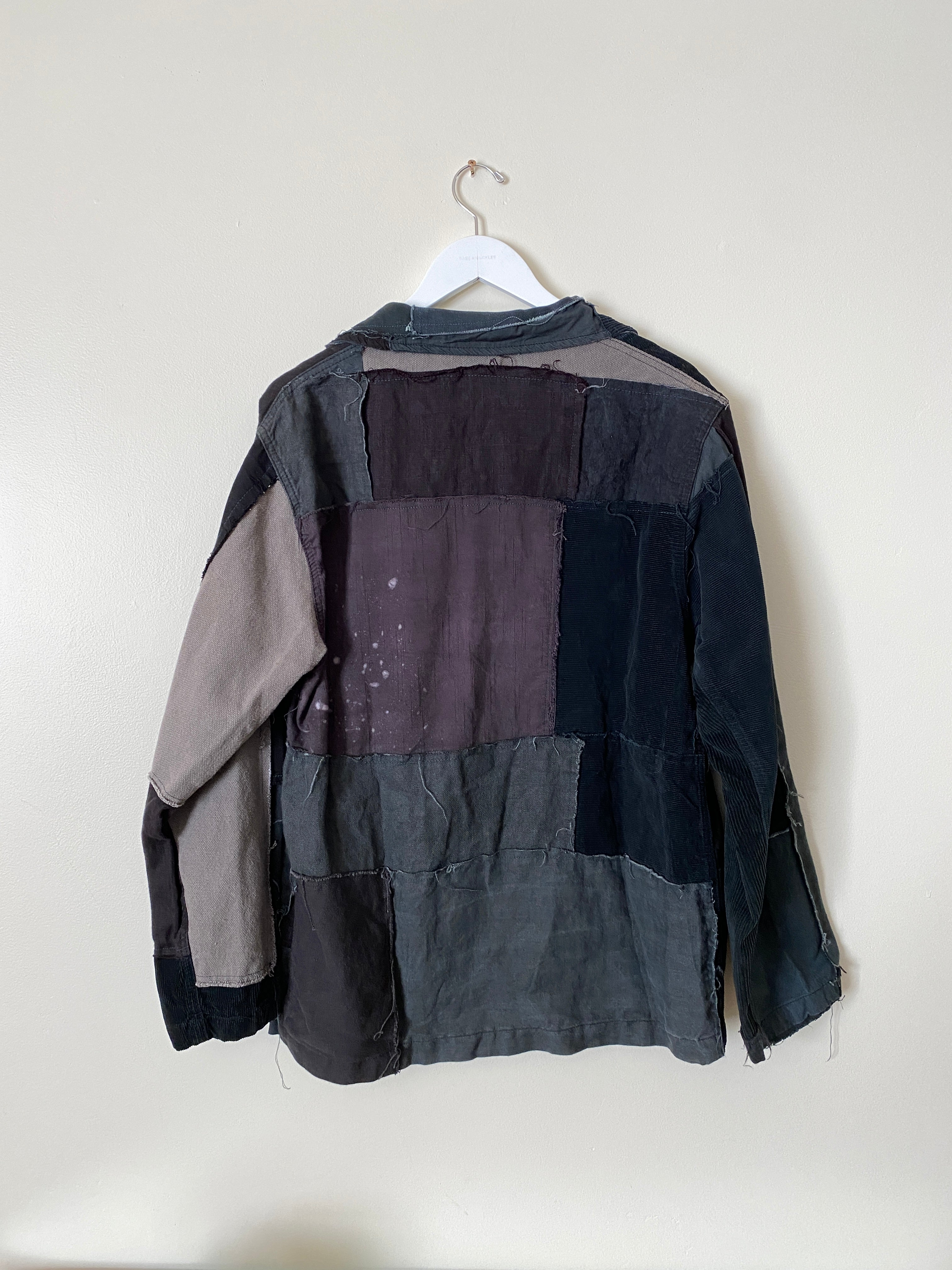 Vintage Fabric Patchwork Chore Coat (L/XL)
