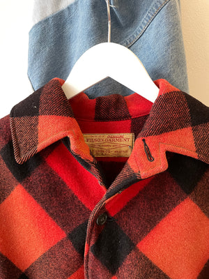 1970's Filson Plaid Mackinaw Jacket (M)