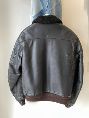 1980's LL Bean Sherpa Leather Jacket (M/L)