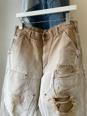 1990's Carhartt Sun Faded Double Knee Pants (32 x 30)