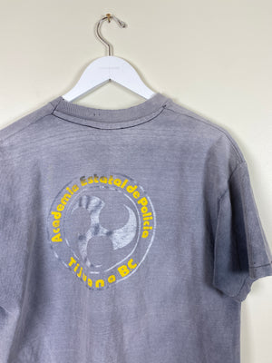 1990's Sun Faded Tijuana Police Shirt (L/XL)