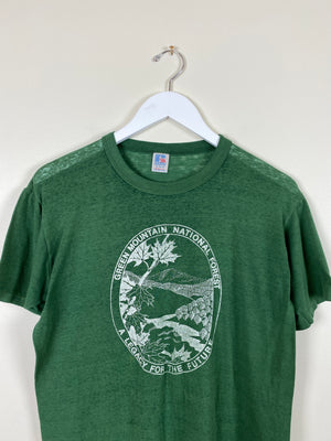 1990's Green Mountain Forest T-Shirt (M)