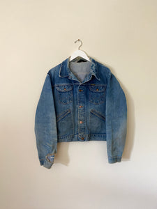 1970's Wrangler Repaired Denim Jacket (L/XL)