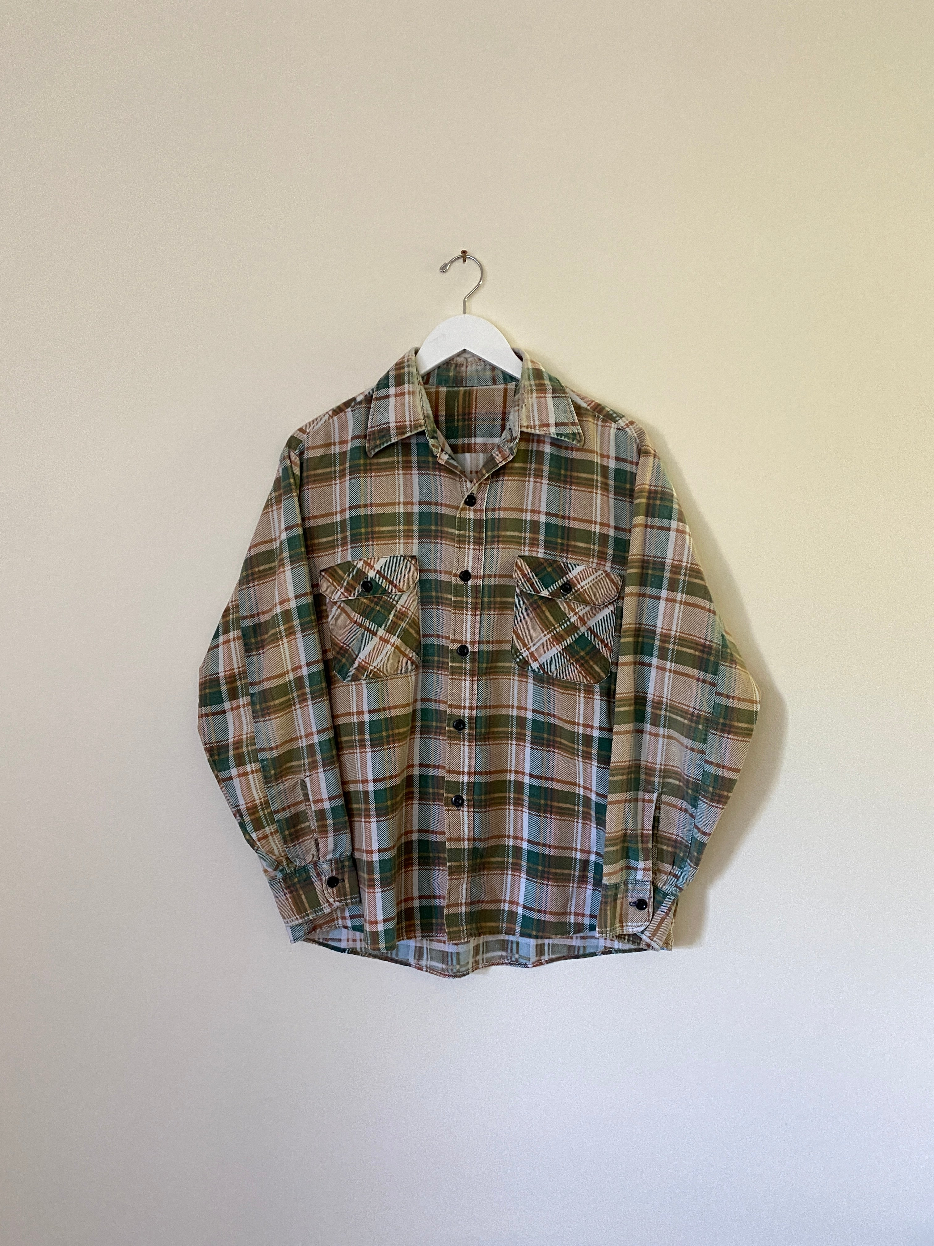 1970's Worn and Soft Flannel (L)