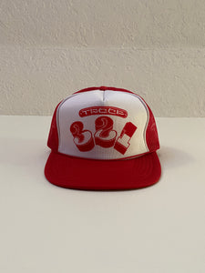 1990's 321 Red and White Trucker Hat (O/S)
