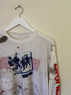 1980's Heavily Painted Long Sleeve Shirt (S/M)
