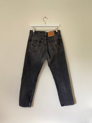 1990's Levi's 505 USA Faded Black Jeans (32 x 29)