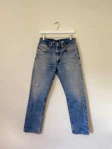 1990's Levi's 505 USA Whiskered Jeans (31 x 31)