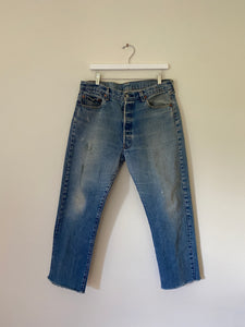 1980's Levi's 501 USA Mid Wash Jeans (34 x 29)
