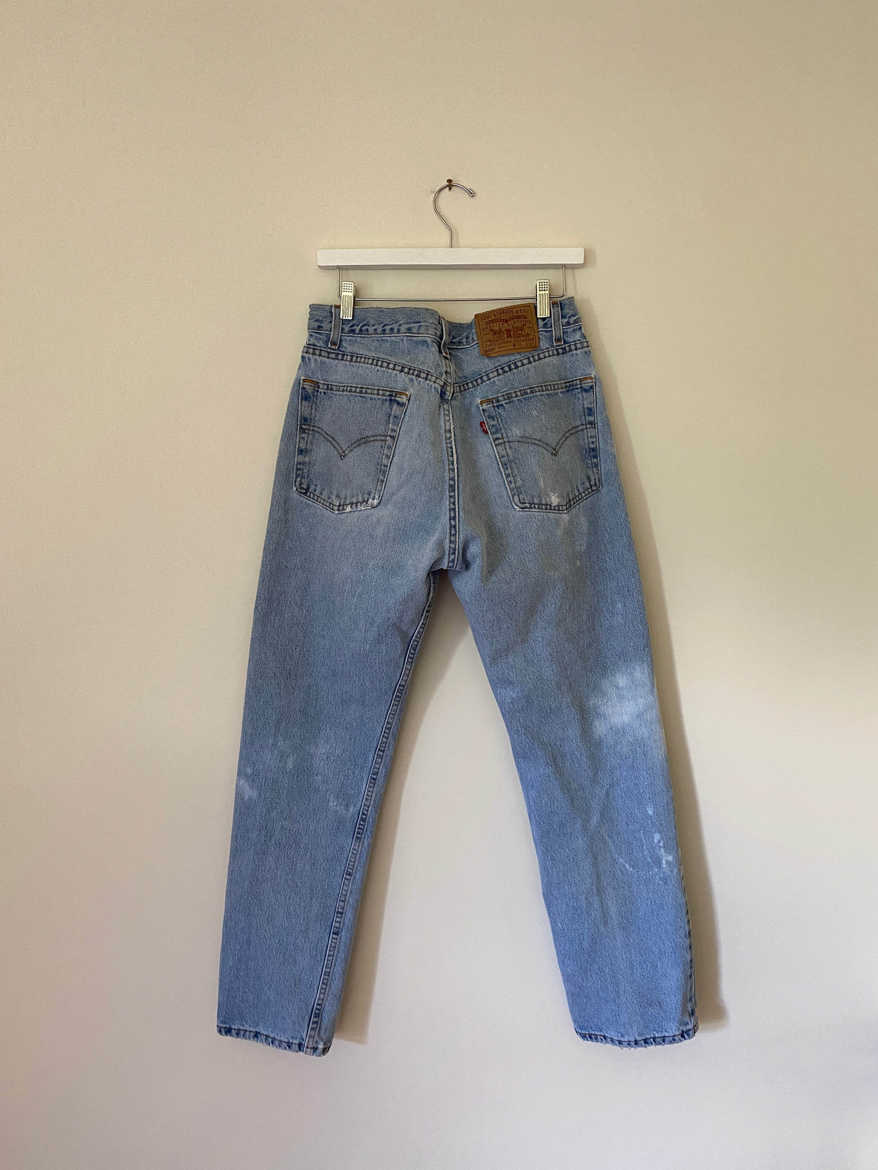 1990's Levi's 505 USA Bleached Jeans (31 x 31)