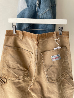 1960's Carters Repaired Canvas Pants (32 x 28)