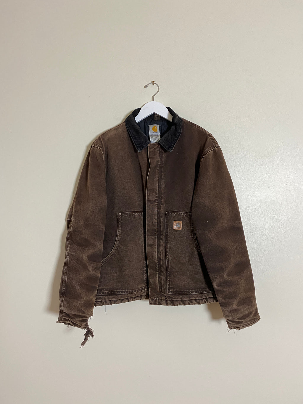 1990's Carhartt Faded Brown Work Jacket (M/L)