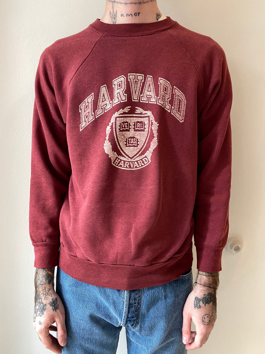 1980's Champion Harvard Crewneck (M)