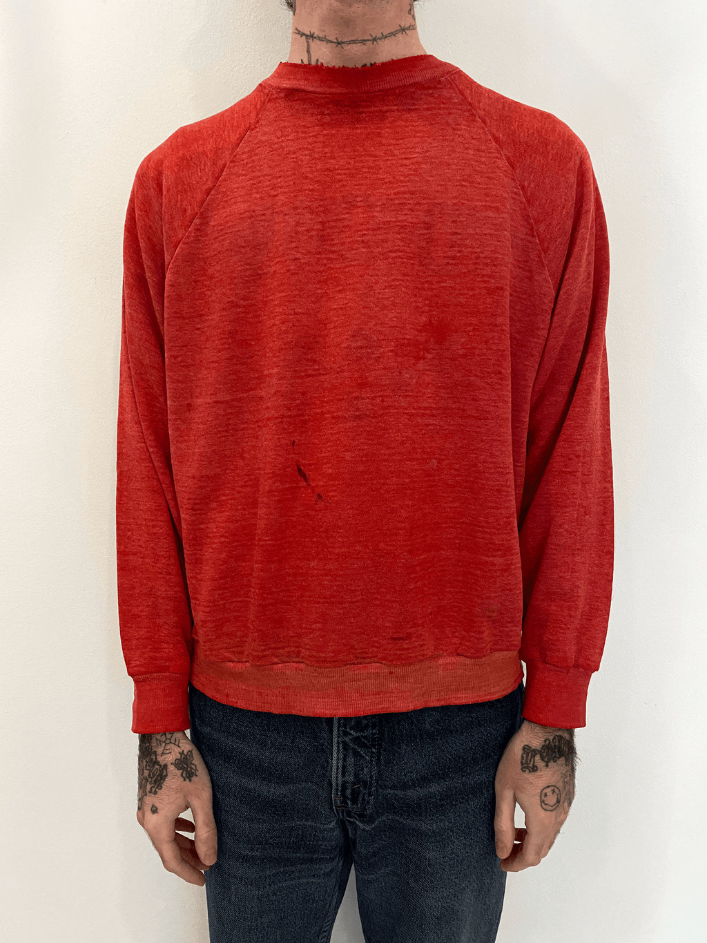1970's Sun Faded Paper Thin Crewneck (M/L)