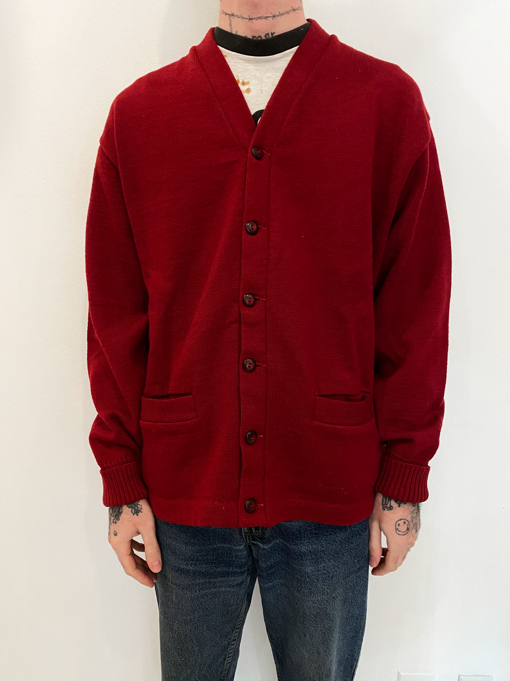 1950's H.L. Whiting Co Letterman Cardigan (L/XL)