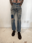 1980's Levi's 501 XX USA Patchwork Repair Jeans (32 x 30.5)