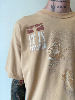 1990's It Is Finished Bleached Jesus Shirt (L/XL)
