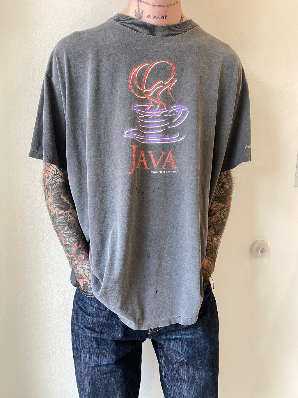1990's Java Sun Faded Shirt (L/XL)