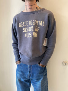1950's/60's Grace Hospital School Faded Crewneck (M)