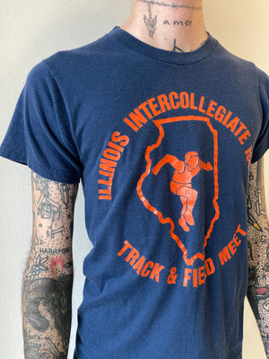 1980's Illinois Track and Field Shirt (XS/S)