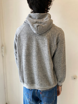 1970's Heather Grey Raglan Hoodie (L)