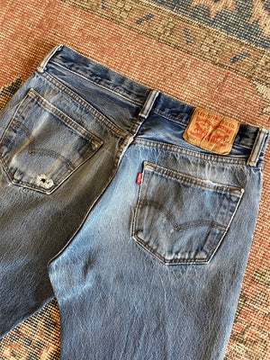 1990's Levi's 501 Whiskered Jeans (30 x 32)