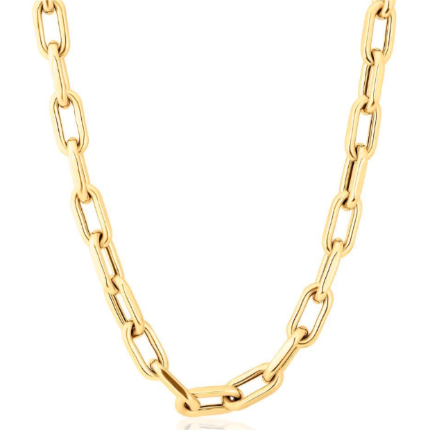 14K Gold Chain Link Necklace