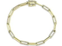 Load image into Gallery viewer, 14kt Diamond link bracelet