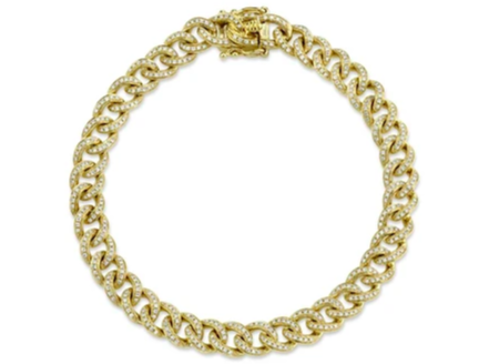 14kt Diamond Cuban Link Bracelet
