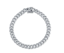 Load image into Gallery viewer, 14kt Diamond Cuban Link Bracelet