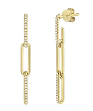 Load image into Gallery viewer, 14kt Diamond Link Earrings