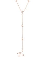 Load image into Gallery viewer, 14kt Diamond Station Lariat