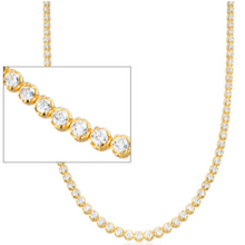 Load image into Gallery viewer, 14kt gold tennis necklace