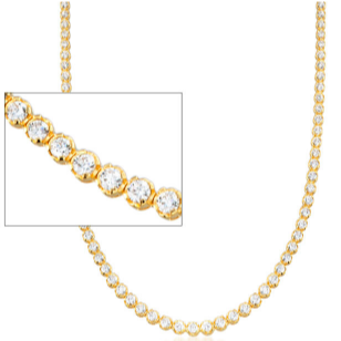 14kt gold tennis necklace