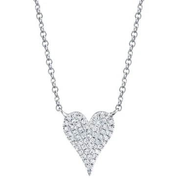 14kt Small Heart Diamond Necklace