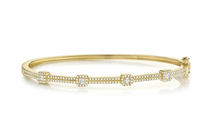 Load image into Gallery viewer, 14kt Diamond Square Bangle